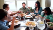 Multigenerational Hispanic Family Enjoying Dinner And Quality Time Together Stock Footage Video