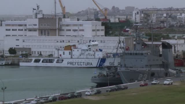 A multinational armada of aircraft and vessels battled high winds and giant waves Sunday as they intensified their search for a missing Argentine...