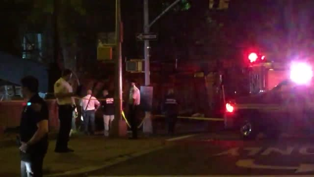 Multiple people were injured when scaffolding collapsed onto a car after it drove into one of the buildings of the Harlem River Houses on 153rd...