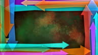 Multiple versions (2) Colorful Copy Spaces made from Arrows