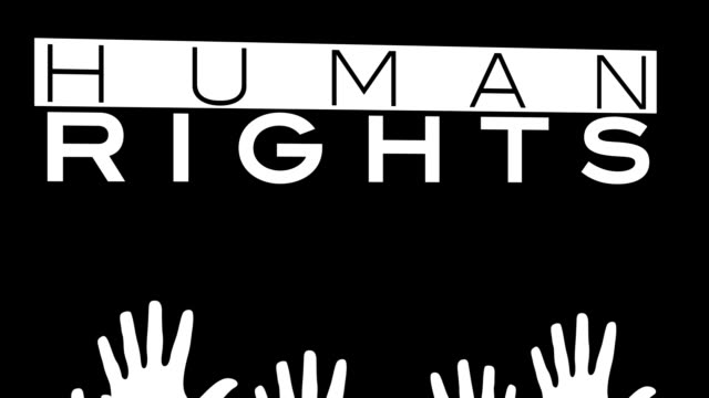 Farbige Herren Hände werden für Menschenrechte