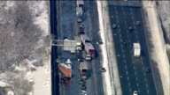 A multivehicle accident blocked all lanes on southbound Interstate 294 near 95th Street for nearly two hours in Chicago on Jan 2 2015 Ten people were...