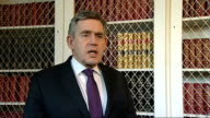 Gordon Brown ENGLAND London Downing Street INT Prime minister Gordon Brown interview SOT Shocked and outraged as destruction of Indian lives Will do...