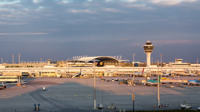Munich airport MUC, TimeLapse, day to night transition - day-2 shot-1