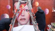 A mural of music legend David Bowie that became a focal point for tributes when he died one year ago is preserved behind Perspex in Brixton south...