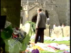 Holly Wells/Jessica Chapman Minutes silence ITN POOL ENGLAND Cambridgeshire Soham Clock on St Andrews Church at 3 o'clock PULL OUT people in...