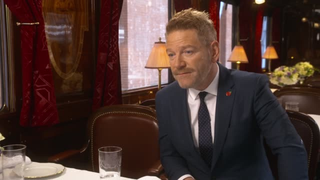 'Murder on the Orient Express' film launch Sir Kenneth Branagh interview SOT on moustache labour intensive on Hollywood sex scandal this behaviour...