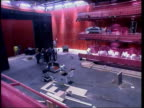 LS Lowry arts centre to be opened INT Theatre inside The Lowry Theatre floor as lights tested Michael Wilford interviewed SOT It's a concern which...
