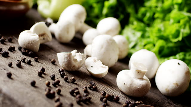 mushrooms and other vegetables