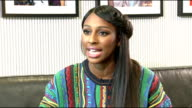 Alexandra Burke interview Burke interview SOT Factor lineup / Simon Cowell / The Voice / meeting william CUTAWAYS of Burke sitting and chatting
