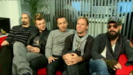 Backstreet Boys interview ENGLAND London has the 'fword' on his cap which may need blurring*** Backstreet Boys taking seat Backstreet Boys interview...