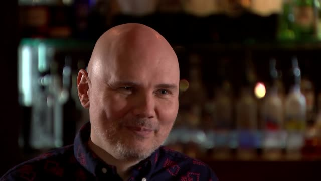 Billy Corgan interview ENGLAND London INT William Patrick Corgan interview SOT William Partrick Corgan performing and singing 'Aeronaut' SOT William...