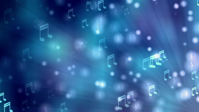 Music Blue Background