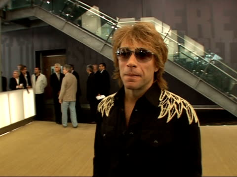 Bon Jovi arrivals at 02 arena rehearsals and interviews Jon Bon Jovi interview SOT [On the O2 Arena] It looks like a world class venue across the...