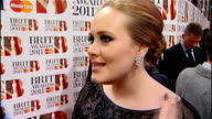 Brit Awards 2011 ENGLAND London O2 Arena EXT Reporter to camera Adele interview SOT Plan B interview SOT Scouting for Girls interview SOT Jessie J...