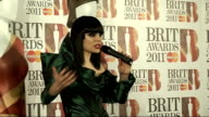 Brit Awards 2011 winner interviews ENGLAND London O2 Centre INT Jessie J press conference SOT On her dreams finally becoming reality / Justin Bieber...