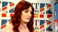 Brit Awards 2012 Adele wins Album of the Year ENGLAND London Ed Sheeran interview SOT Florence Welch interview SOT