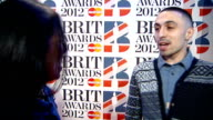 Brit Awards 2012 red carpet interviews Adam Deacon interview SOT / James Corden interview SOT / Dizzee Rascal interview SOT / Olly Murs interview SOT