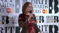 Brit Awards 2016 Adele speaking to press SOT I feel a bit worn out emotionally but it was absolutely incredible I was hoping to win one but to get...