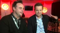 Brit Awards 2016 Ant and Dec interview SOT