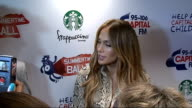 Capital FM Summertime Ball 2011 celebrity interviews Jennifer Lopez speaking to press SOT On whether she has superstitions before going on stage /...