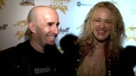 'Classic Rock Roll of Honour 2009' Awards ENGLAND London PHOTOGRAPHY * * Scott Ian and his wife Pearl Aday speaking to reporters / Members of rock...