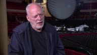 Dave Gilmour interview ENGLAND London Royal Albert Hall INT Dave Gilmour interview SOT