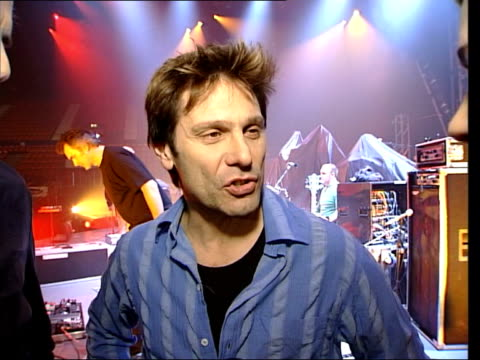 Duran Duran comeback tour ITN ENGLAND London Wembley EXT Duran Duran fans along PULL OUT i/c Following seq has 'Wild Boys' by Duran Duran overlaid...