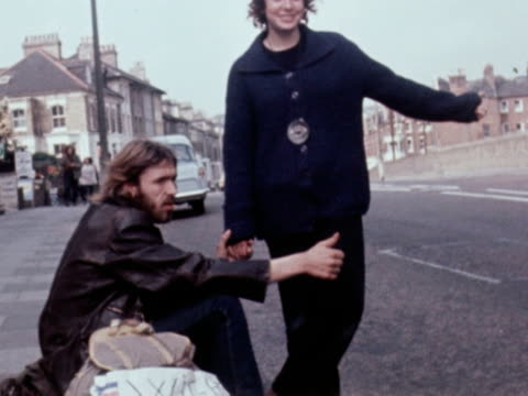 Music fans attempt to hitch hike to the Isle of Wight Festival