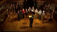 Music from Anne Boleyn's songbook performed for first time in 500 years ENGLAND London INT Various shots of Alamire Choir singing on stage during...