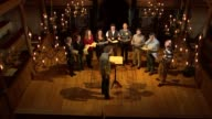 Music from Anne Boleyn's songbook performed for first time in 500 years Various shots of choir singing on stage during rehearsal SOT