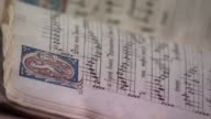Music from Anne Boleyn's songbook performed for first time in 500 years ENGLAND London INT Various GVs Anne Boleyn's songbook flicked through