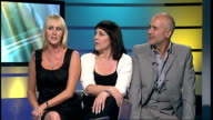 Interview Human League ENGLAND London GIR INT Susan Ann Sulley Joanne Catherall and Phil Oakey interview SOT talk about being together so long and...