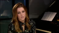 Interview Lisa Marie Presley ENGLAND London INT Lisa Marie Presley interview SOT On what we can expect from third album Storm and Grace says it's...
