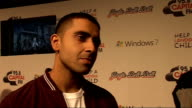 Jingle Bell Ball at 02 Arena backstage interviews Jay Sean talking to press Jay Sean interview SOT Americans like British accent / In Britain we fuse...