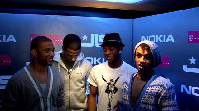 JLS interview ENGLAND London interview SOT Aston's birthday so hoping fans will sing Happy Birthday / On the tour going great big adventure / On...