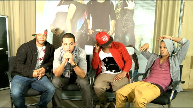 JLS interview ENGLAND London interview SOT On last night's XFactor appearance / Gary Barlow told them not to eat chips before they went on stage /...