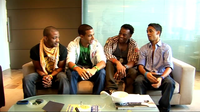 JLS interview Oritse Williams Aston Merrygold Jonathan 'JB' Gill and Marvin Humes interview SOT On touring / On Susan Boyle and the pressures of...