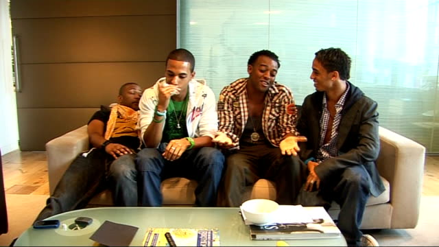 JLS interview Oritse Williams Aston Merrygold Jonathan 'JB' Gill and Marvin Humes interview SOT On Cheryl Cole on X Factor / On the Cheryl/Danni...