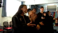 London Community Gospel Choir performing London Community Gospel Choir singing 'Everton' and 'Chelsea' SOT