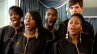London Community Gospel Choir performing London Community Gospel Choir singing song 'Abide With Me' SOT