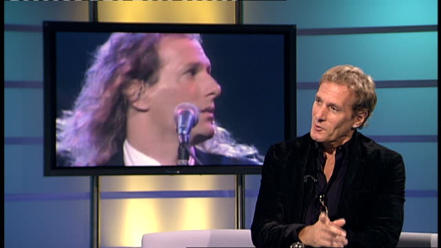 Michael Bolton interview ENGLAND London INT Michael Bolton AS LIVE STUDIO interview SOT On his status as a megastar and his past and how it has been...