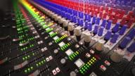 Scrivania di miscelatore di musica tabella di registrazione studio.Loopable CG