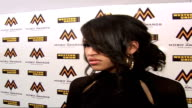 Mobo Awards at Royal Albert Hall Celebrity arrivals and interviews Cassie wearing black dress posing for photocall and interview SOT On enjoying the...