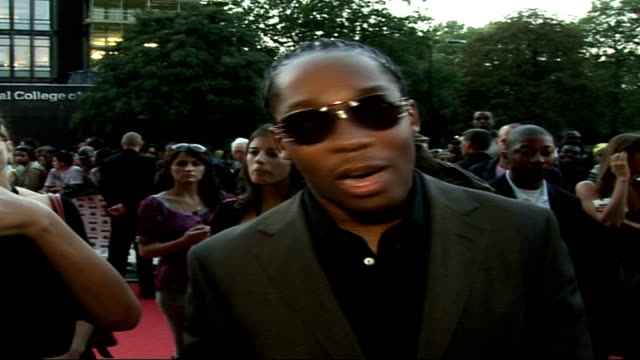 Mobo Awards at Royal Albert Hall Celebrity arrivals and interviews Lemar interview SOT On his outfit / On past Mobo awards and performing / The...