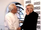 Mojo Awards 2008 ceremony celebrity photocalls and interviews Trevor Horn speaking to another