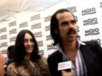 Mojo Awards 2008 ceremony celebrity photocalls and interviews Nick Cave interview SOT On plans for a statue of himself in his hometown of...