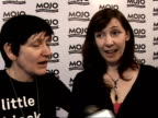 Mojo Awards 2008 ceremony celebrity photocalls and interviews Kevin Shields and Colm O Ciosoig speaking to reporters Bilinda Butcher and Debbie Googe...