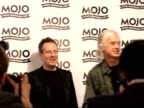 Mojo Awards 2008 ceremony celebrity photocalls and interviews Jimmy Page and John Paul Jones posing with Mojo Best Live Act award