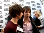 Mojo Awards 2008 ceremony celebrity photocalls and interviews Alex Turner and Miles Kane laughing SOT Alex Turner and Miles Kane interview SOT On it...